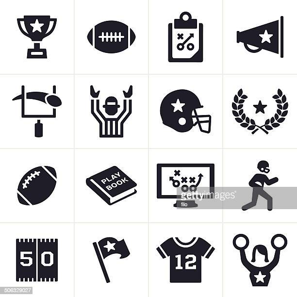 football icons - football league stock illustrations