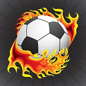 Football in flame