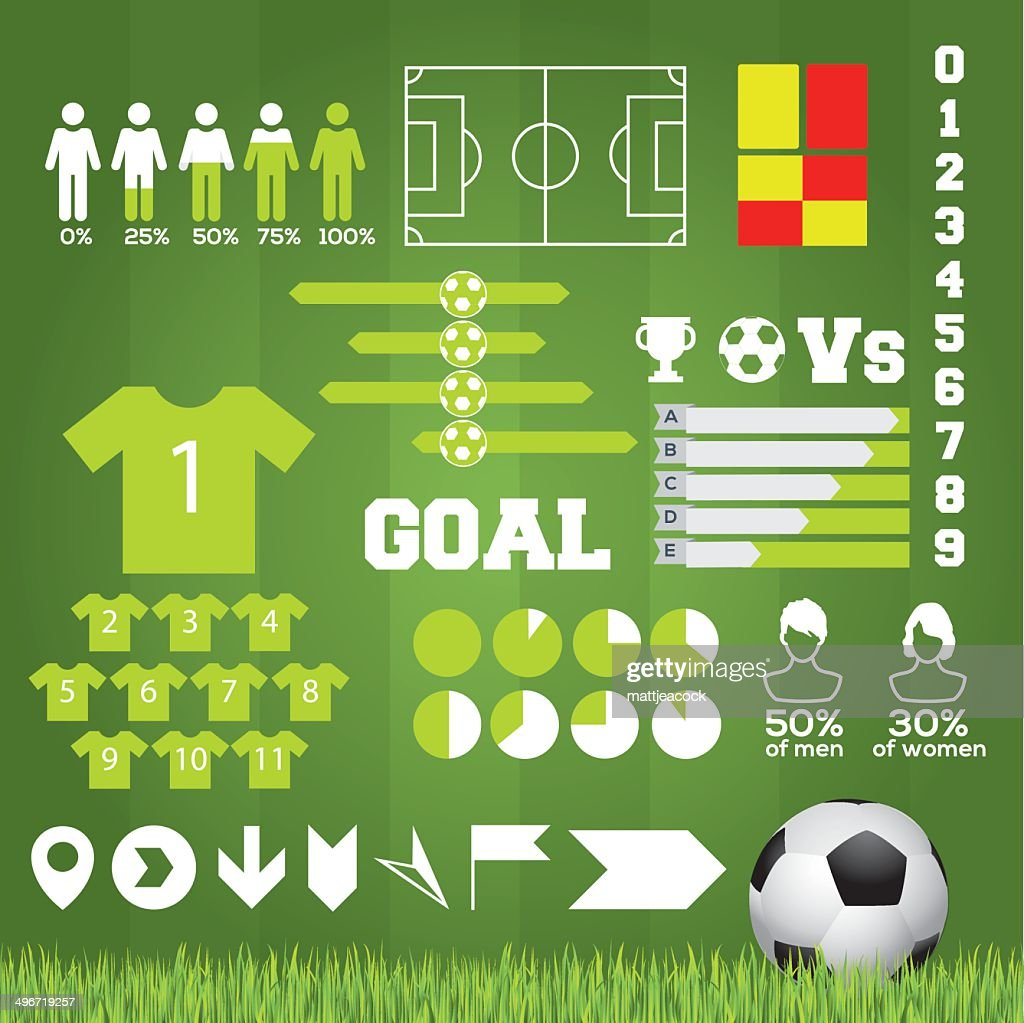 Football Infographic : Vector Art