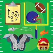Football Items Flat