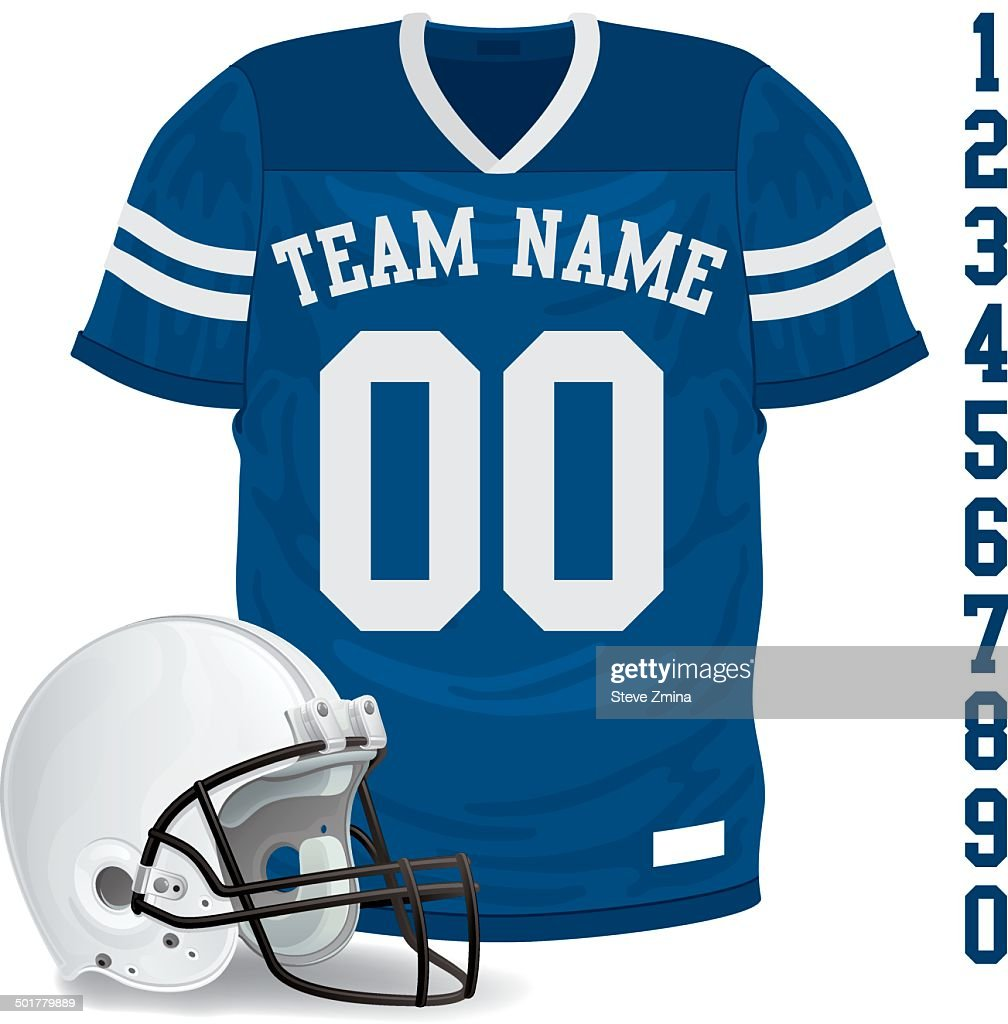 Football Jersey and Helmet
