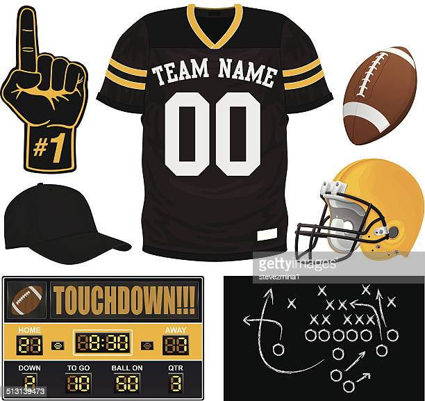 football jersey set - sports jersey stock illustrations