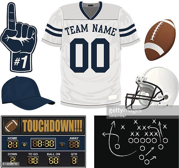 football jersey set - sports jersey stock illustrations