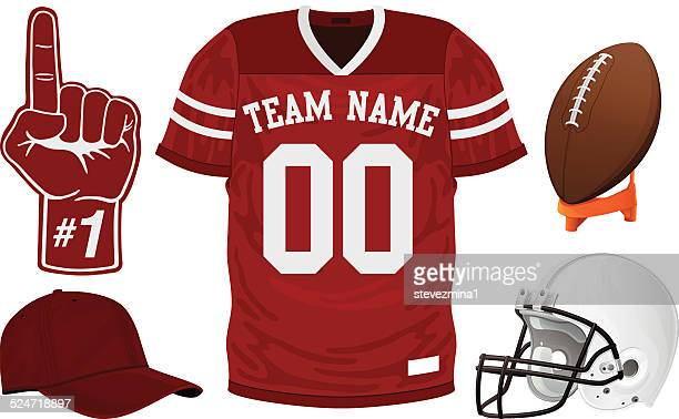 football jersey set - shirt stock illustrations