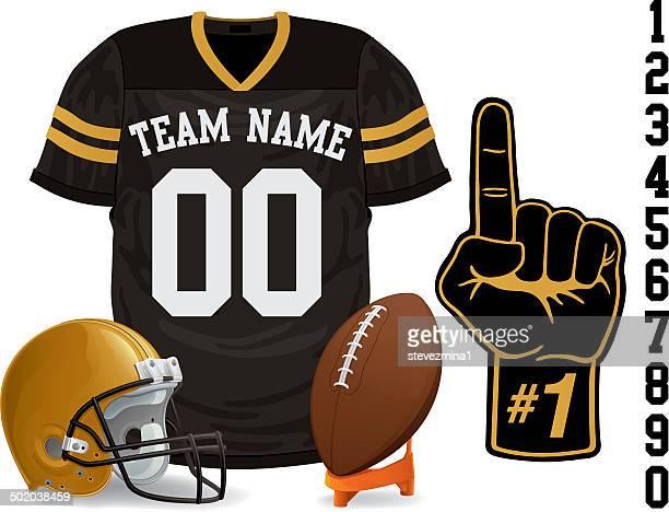football jersey - american football uniform stock illustrations