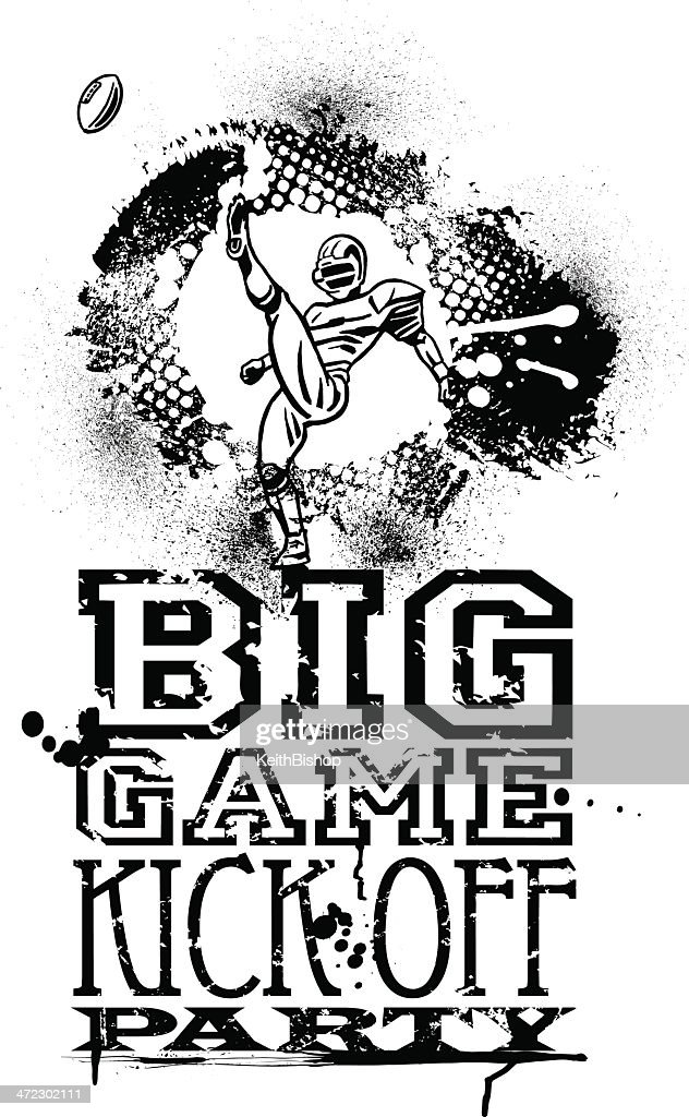 Football Kick Off Grunge Graphic