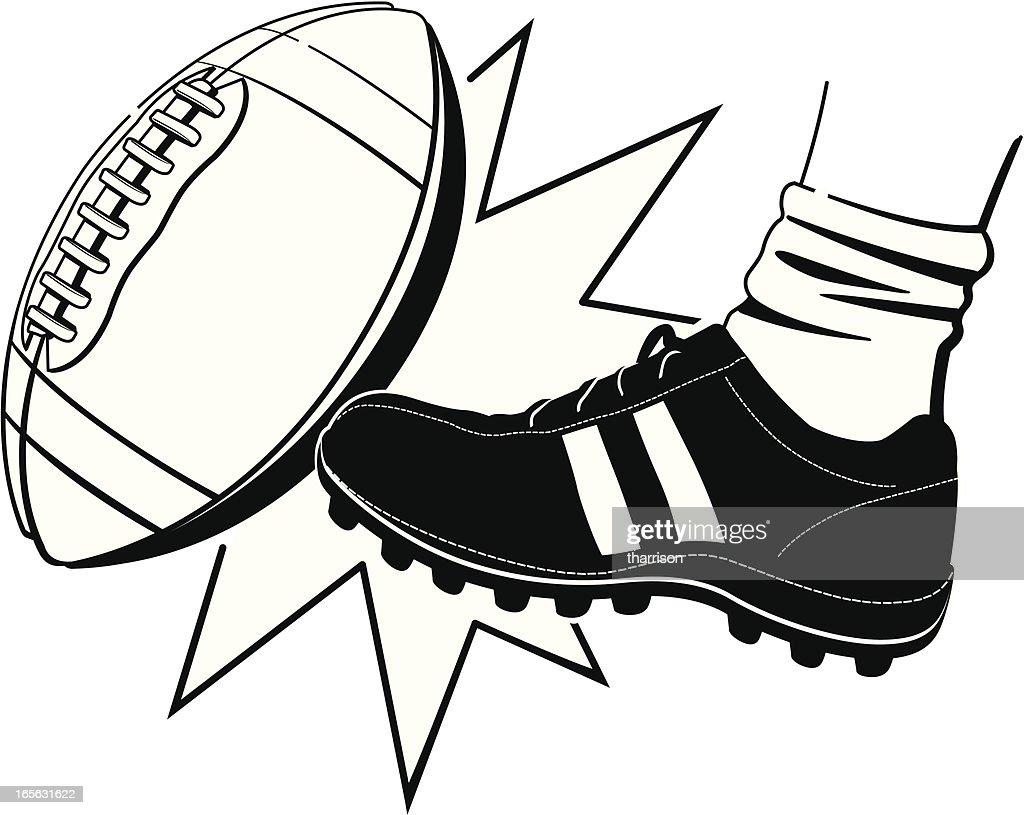Football Kickoff BW