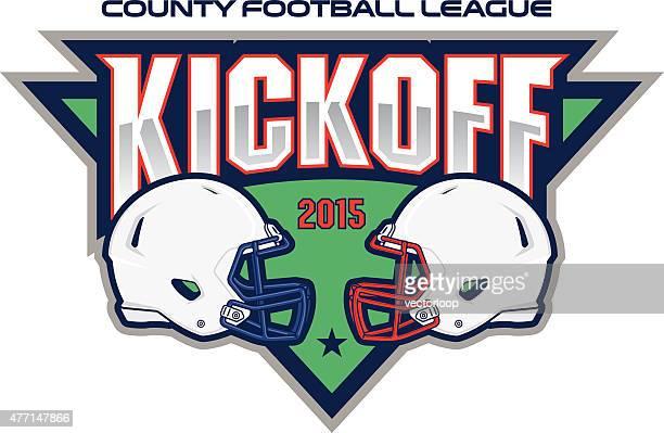 football kickoff - kick off stock illustrations