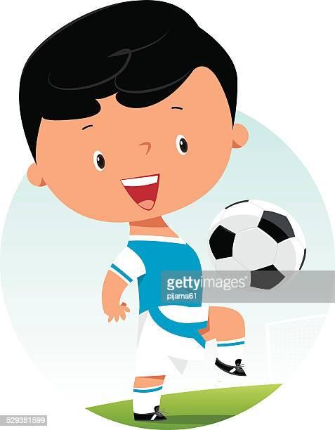 football kid - drive ball sports stock illustrations, clip art, cartoons, & icons