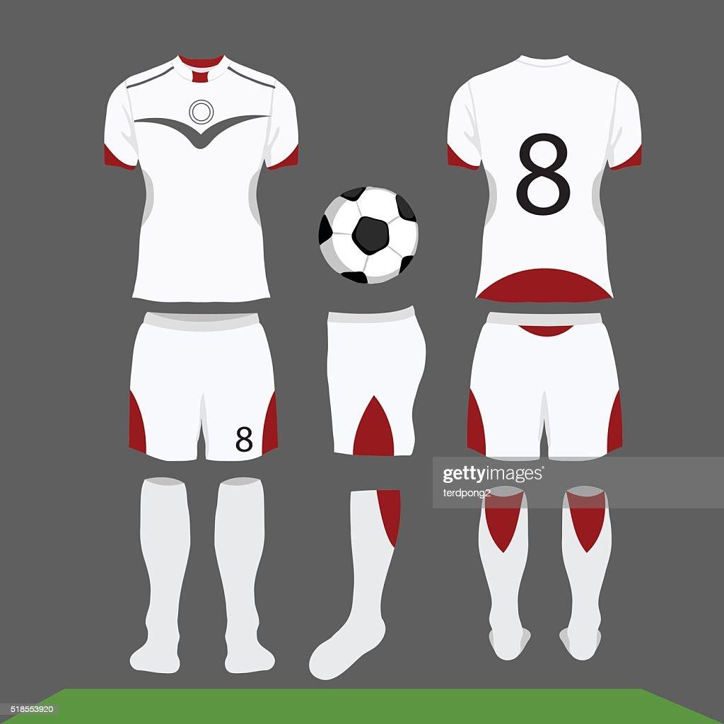 football kit vector cartoon
