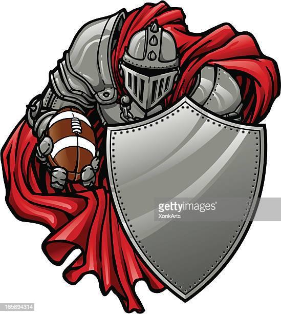 football knight - knight person stock illustrations, clip art, cartoons, & icons