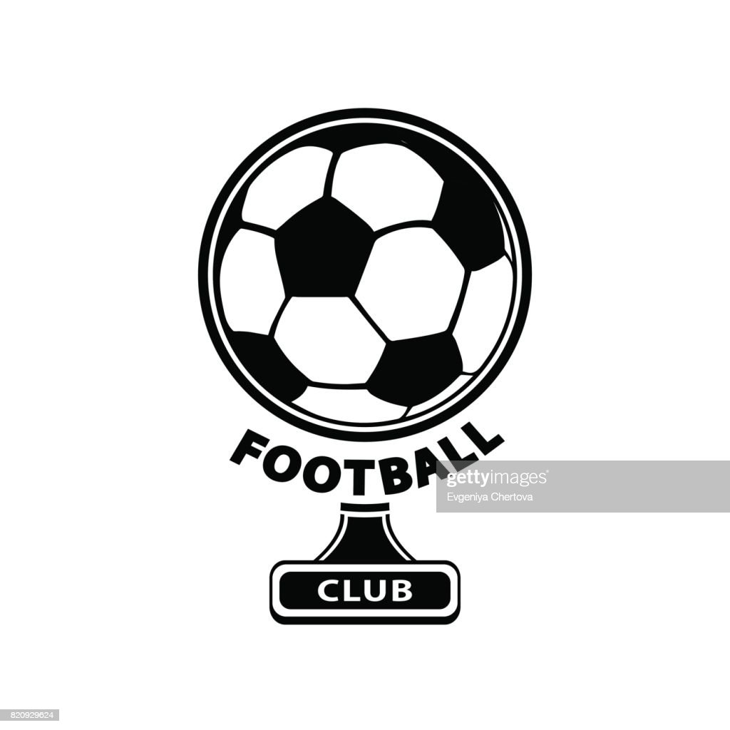 Football logo, ball icon, isolated on white background. Vector