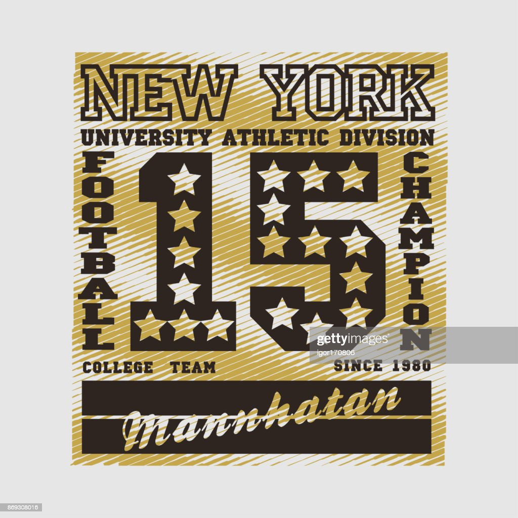 football, New York, typography, athletic, design graphic