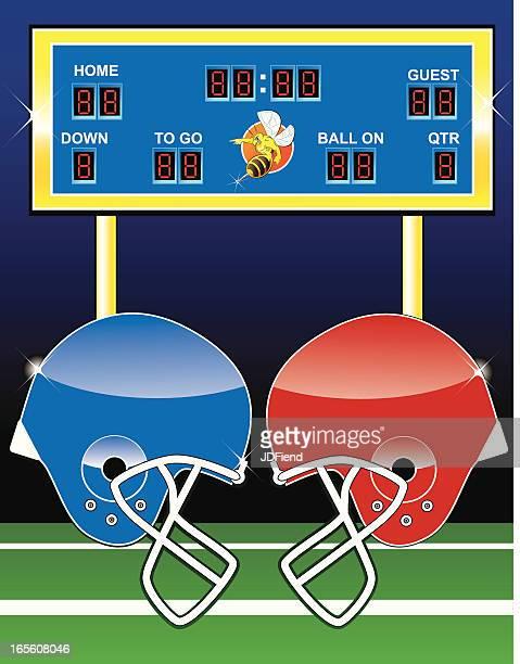 フットボールの泊 - アメリカンフットボールのフィールドゴール点のイラスト素材/クリップアート素材/マンガ素材/アイコン素材