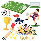 Football or Soccer Cartoon Elements