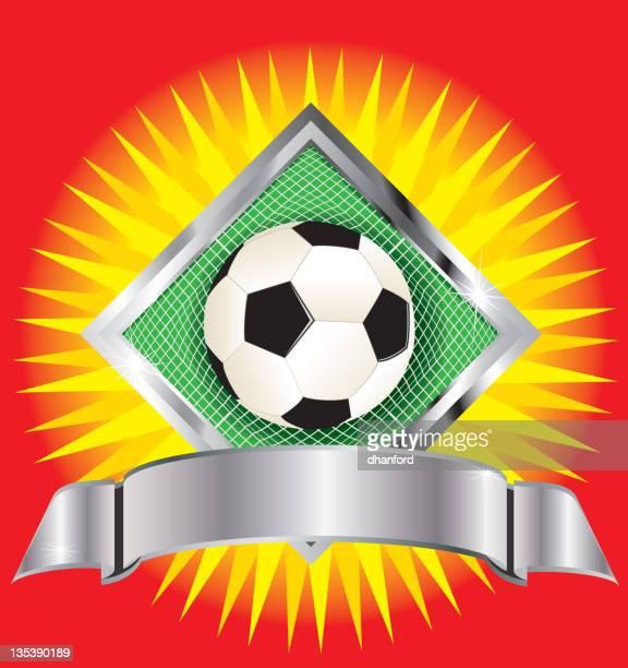 football or soccer sign - sports organization stock illustrations, clip art, cartoons, & icons