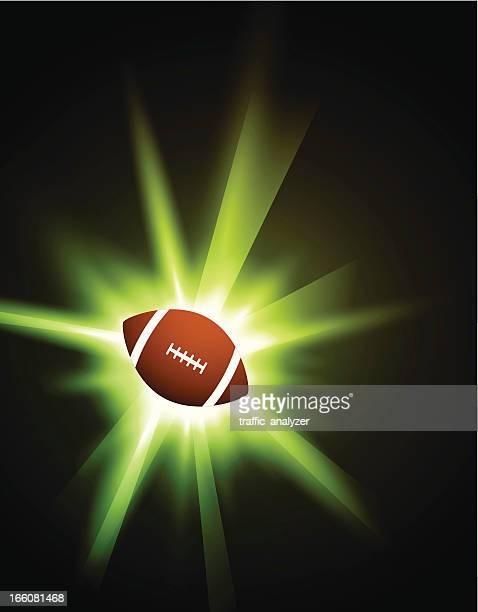 football over shiny background - sports organization stock illustrations, clip art, cartoons, & icons