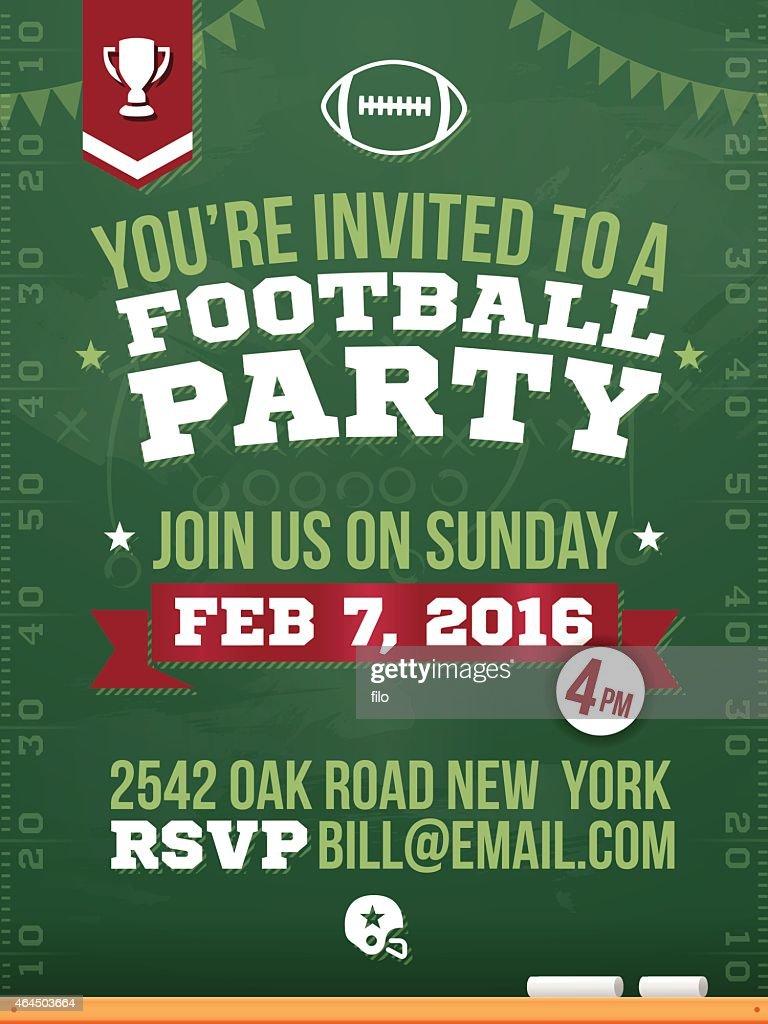 Football Party Horizontal Poster : stock illustration