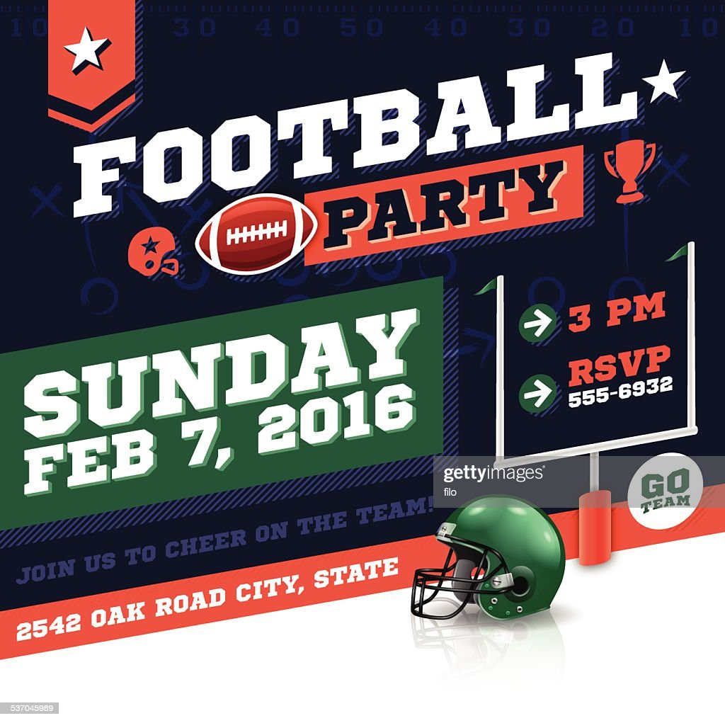 Football Party Invitation Concept