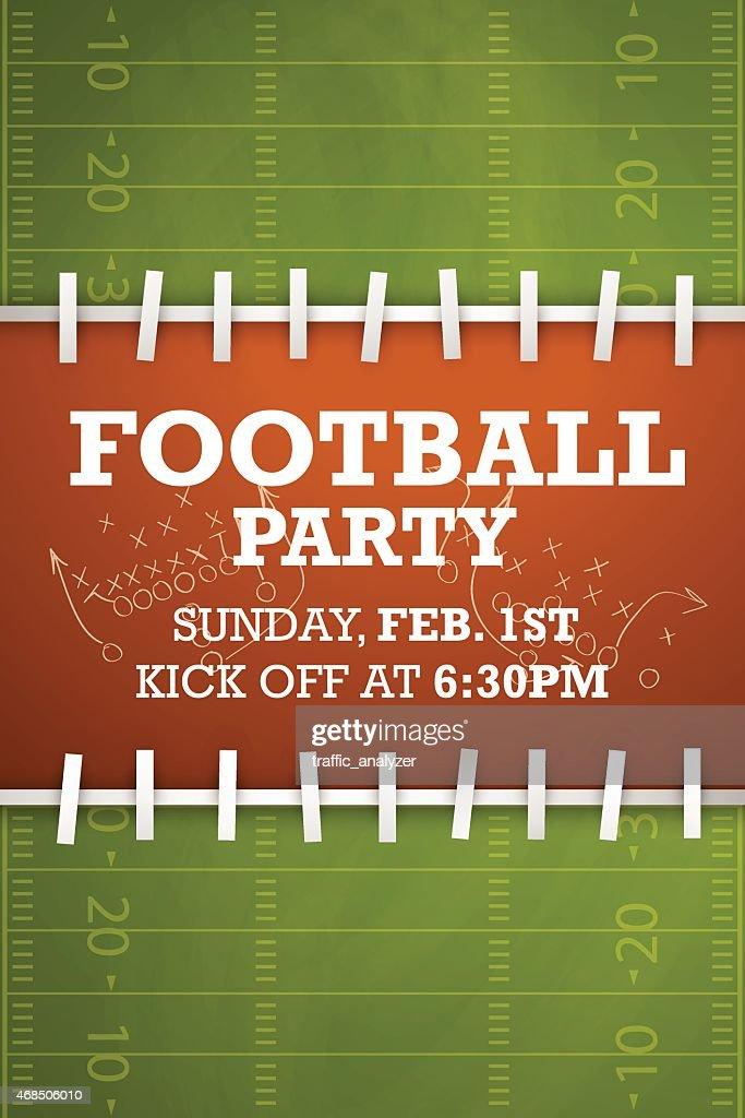 Partido de fútbol de invitación : Ilustración de stock