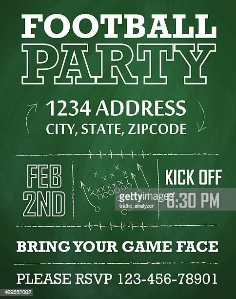 football party invitation - american football ball stock illustrations