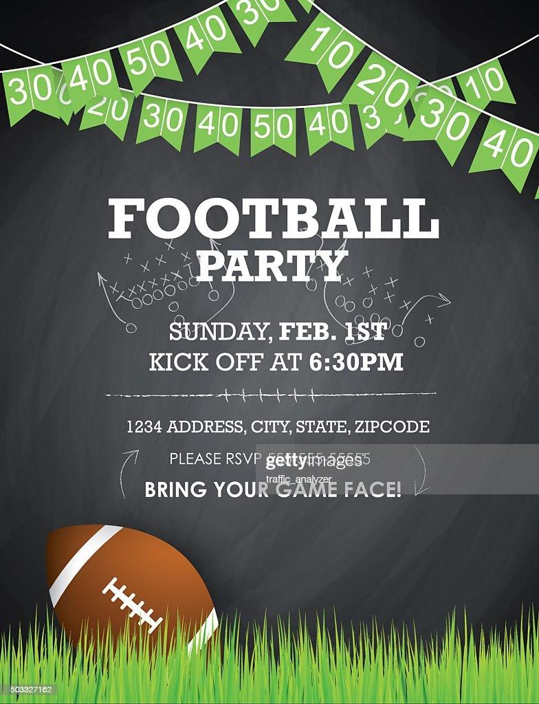 Football Party Invitation Vector Art