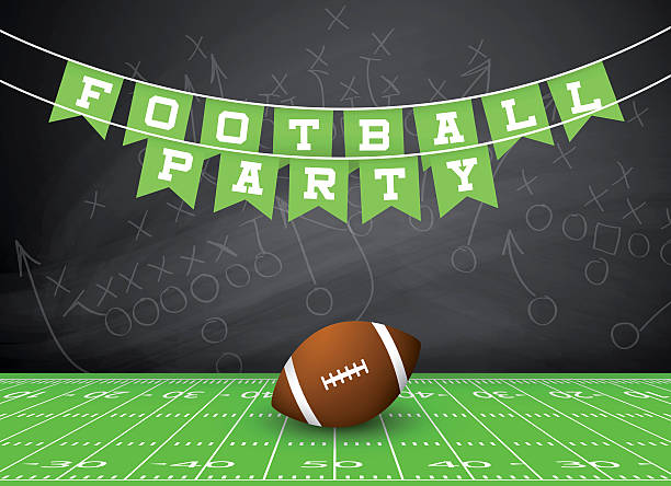 Football Party Invitation Wall Art