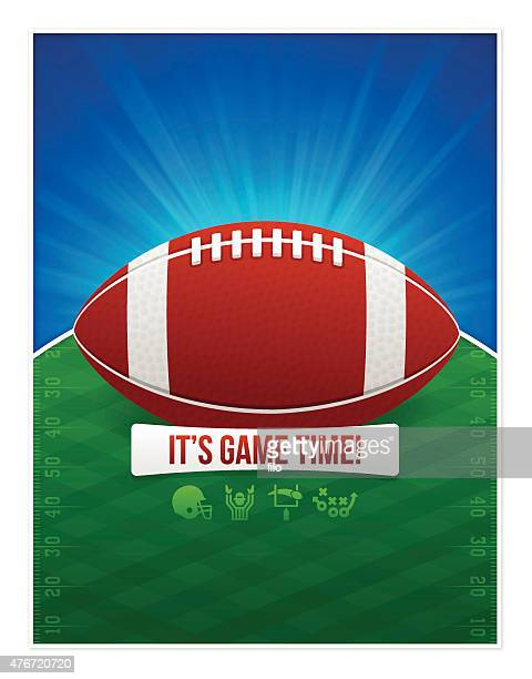 パーティでのポスターサッカー  - タッチダウン点のイラスト素材/クリップアート素材/マンガ素材/アイコン素材