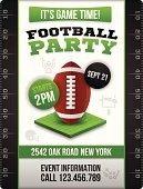 Football Party Invite Poster