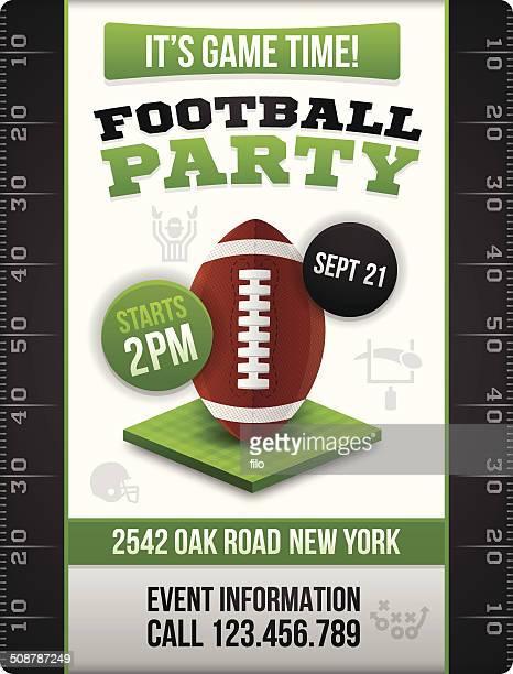 football party invite poster - american football judge stock illustrations
