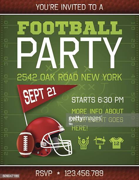 football party invite poster - football field stock illustrations, clip art, cartoons, & icons