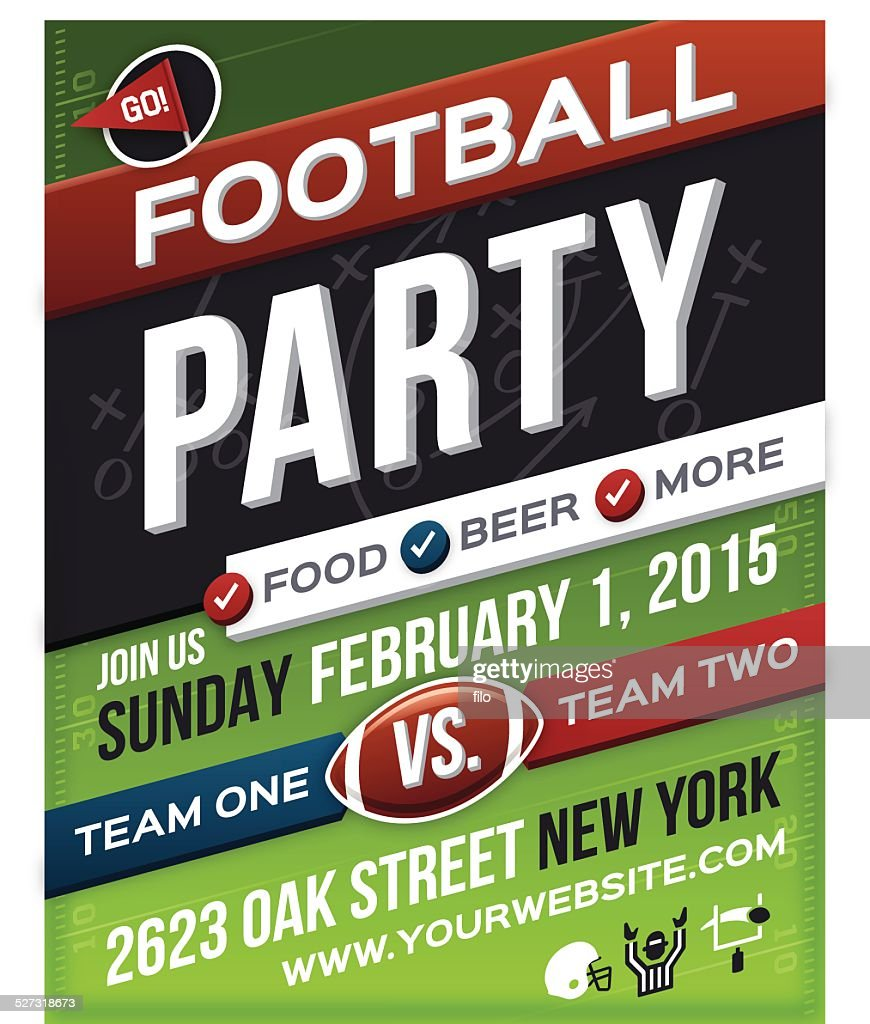 Football Party Poster