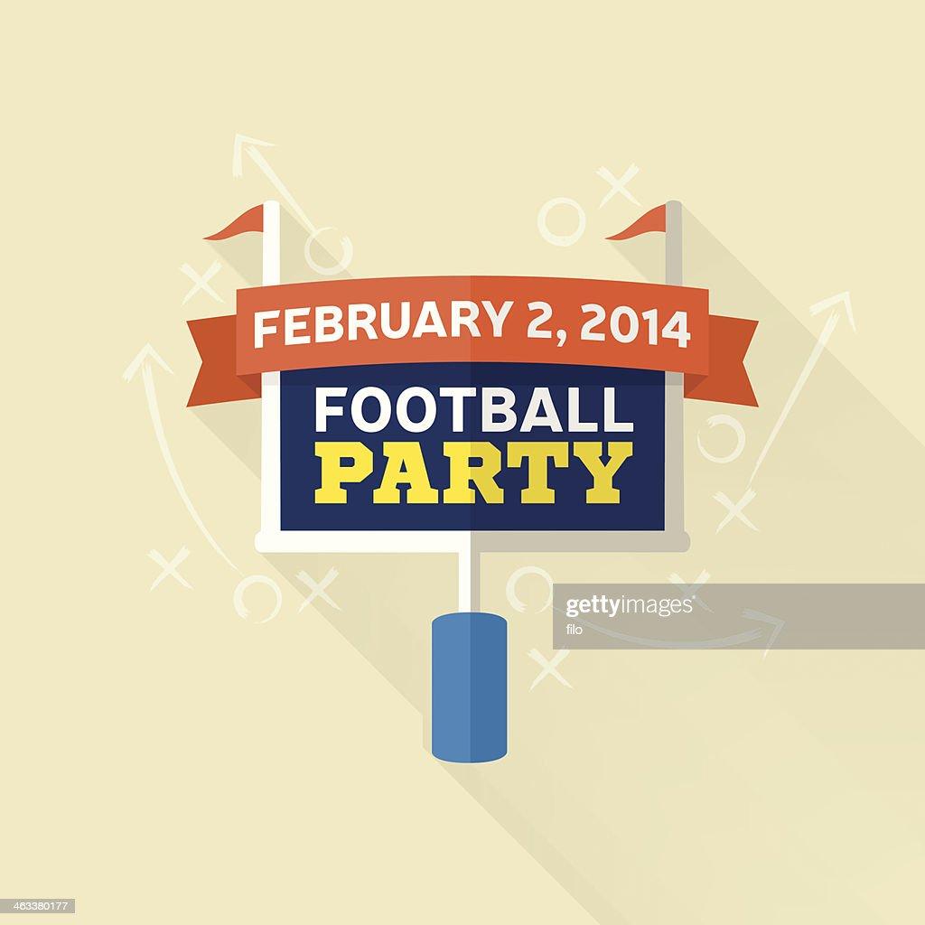 フットボールのパーティ : ストックイラストレーション