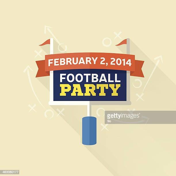 フットボールのパーティ - タッチダウン点のイラスト素材/クリップアート素材/マンガ素材/アイコン素材