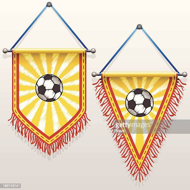 football pennants - pennant stock illustrations