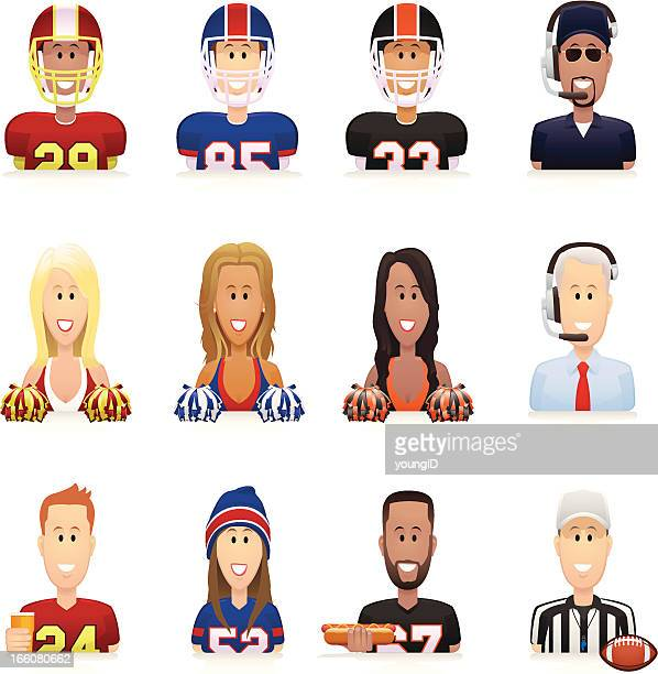 Football People Icons