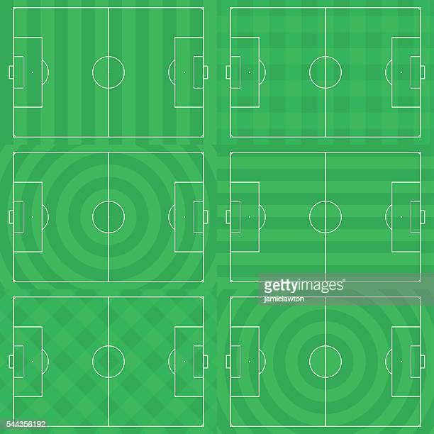 フットボールピッチ/サッカーフィールド草模様の芝刈り