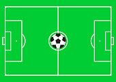 Football pitch (football field or soccer field)