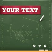 Football Play Chalkboard Background