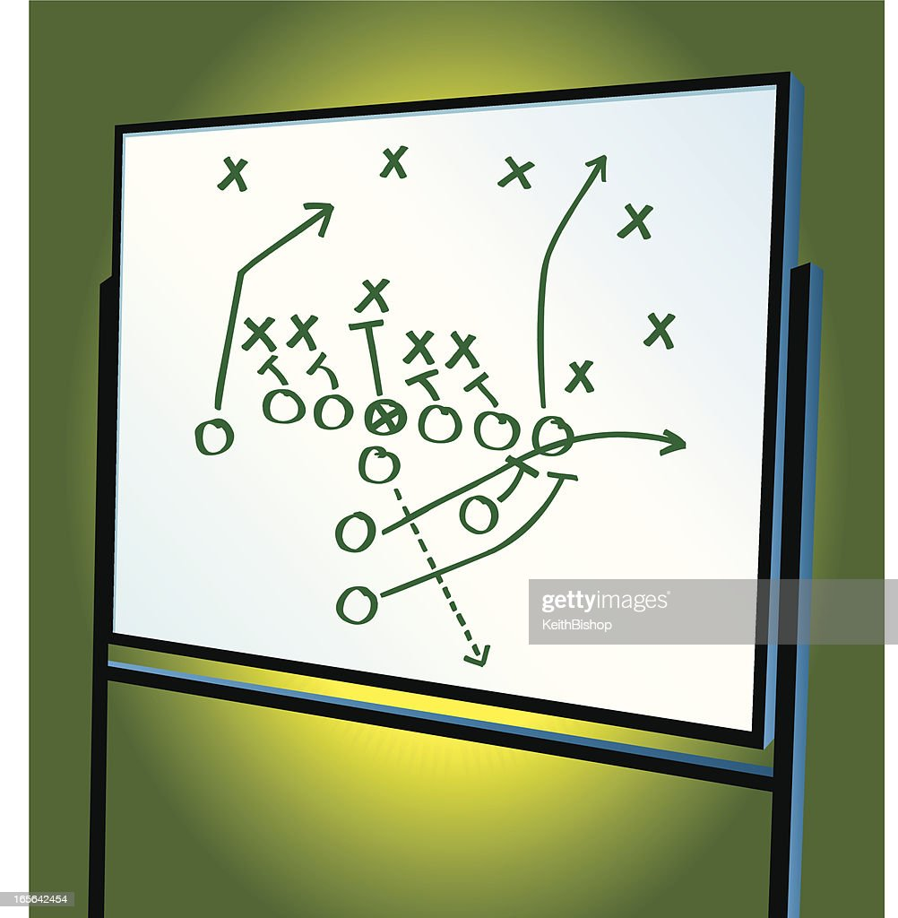 Football play diagram on whiteboard strategy coaching vector art football play diagram on whiteboard strategy coaching vector art pooptronica Images