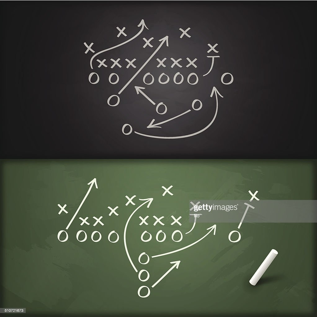 Football Play Diagrams Stock Illustration