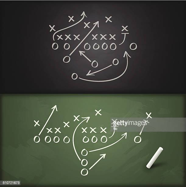 football play diagrams - football field stock illustrations, clip art, cartoons, & icons