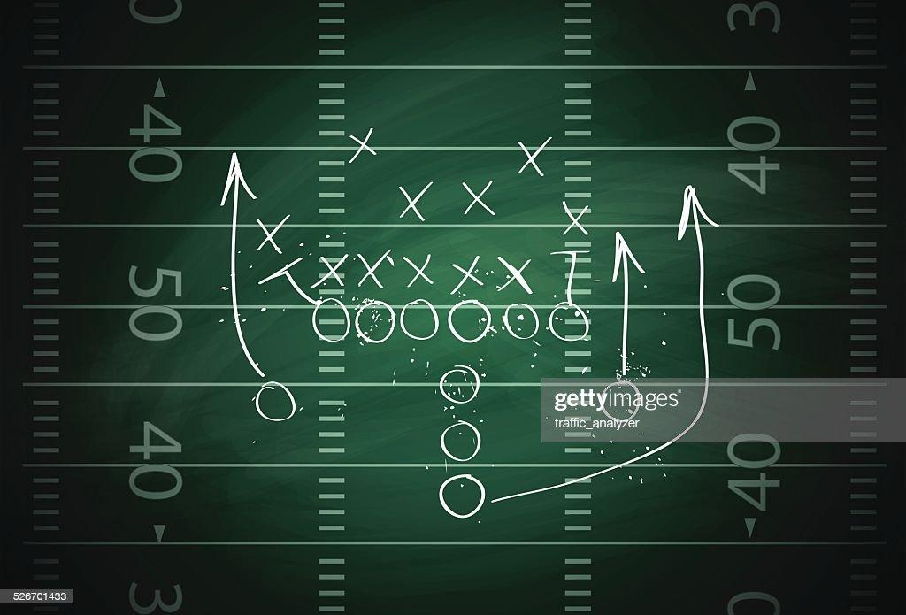 Football play : stock illustration