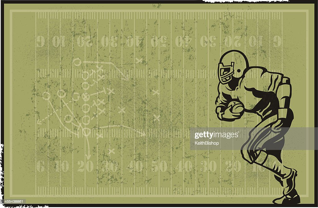Football Player and Field Background