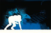 Football Player - Defense Background Graphic