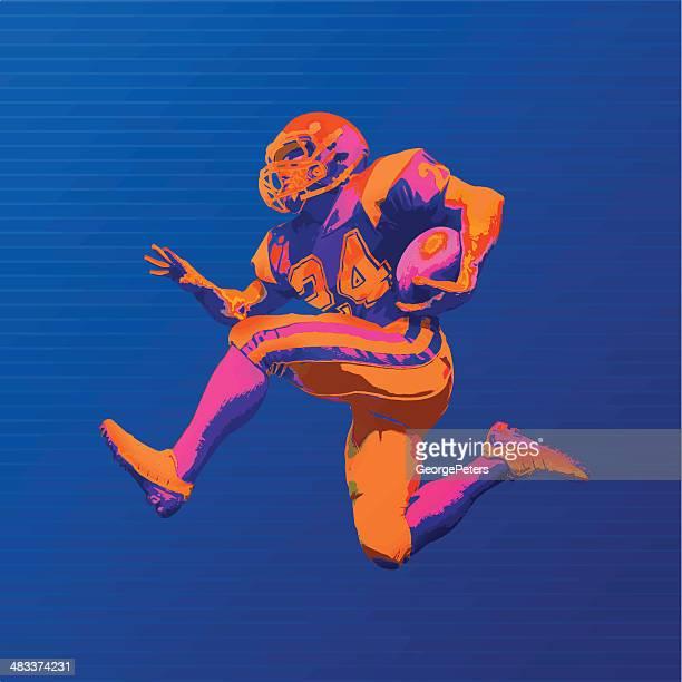 Jogador de futebol em cores arrojado gráfico