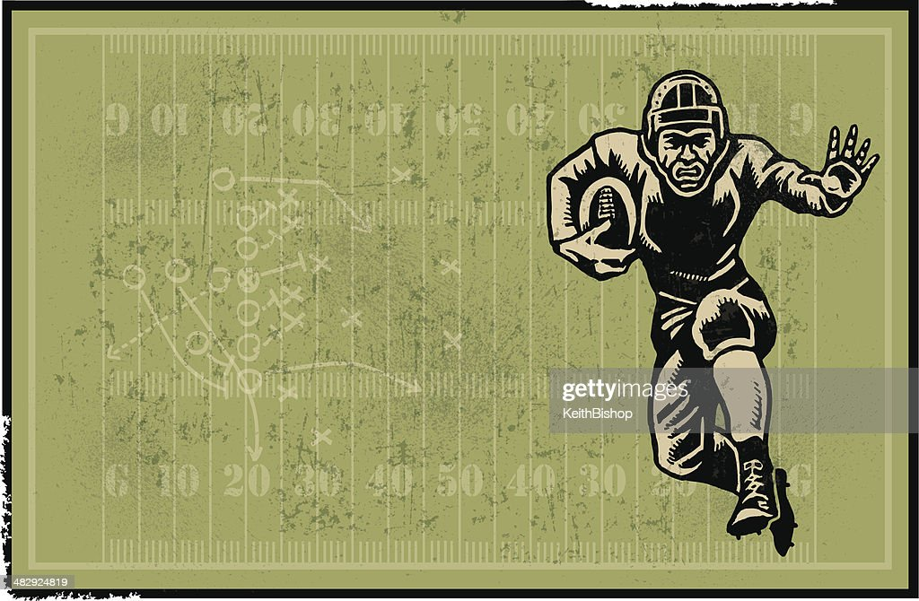 Football Player Retro Background