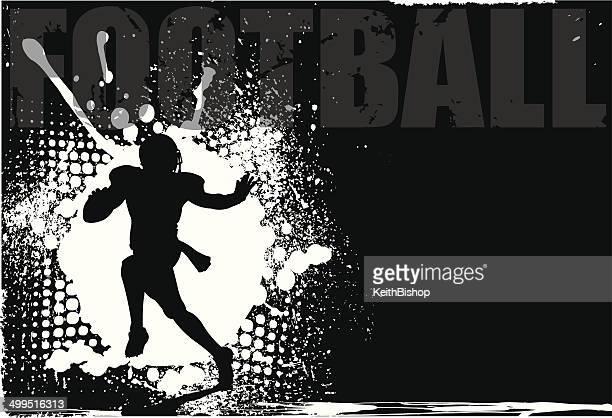ilustraciones, imágenes clip art, dibujos animados e iconos de stock de jugador de fútbol grunge fondo peatonal en diagonal - deporte de equipo