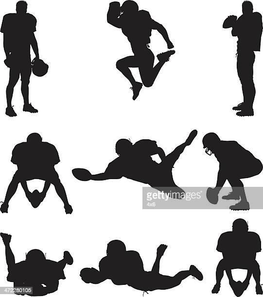 Silhuetas de Jogador de futebol americano