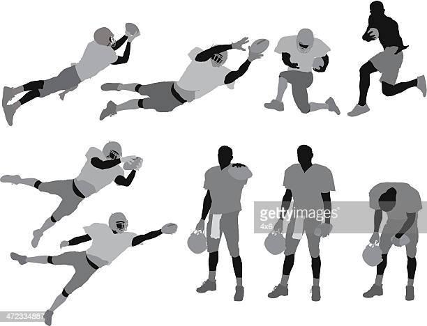 football player - football player stock illustrations, clip art, cartoons, & icons